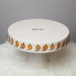 Rae Dunn Share Cake Display Stand Dish Pumpkin